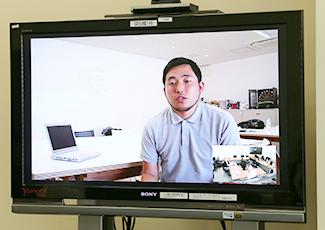 テレビ会議の様子の写真