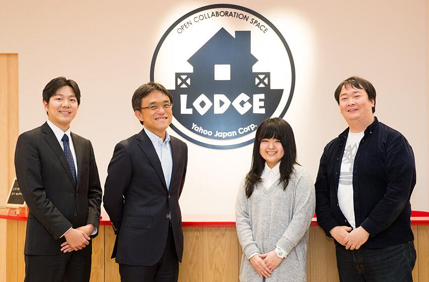 左から妹尾正仁、本間浩輔、西原希咲、植田裕司の写真