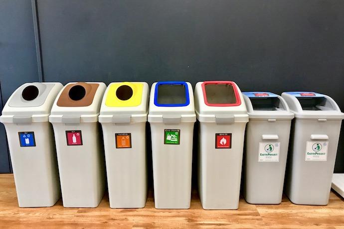 分別ゴミ箱の写真