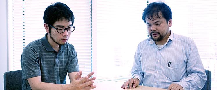 中野信と中根雅文の写真