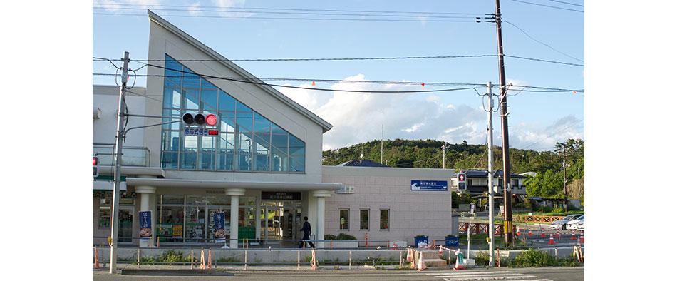 現在は震災復興伝承館という役割を担う旧野蒜駅