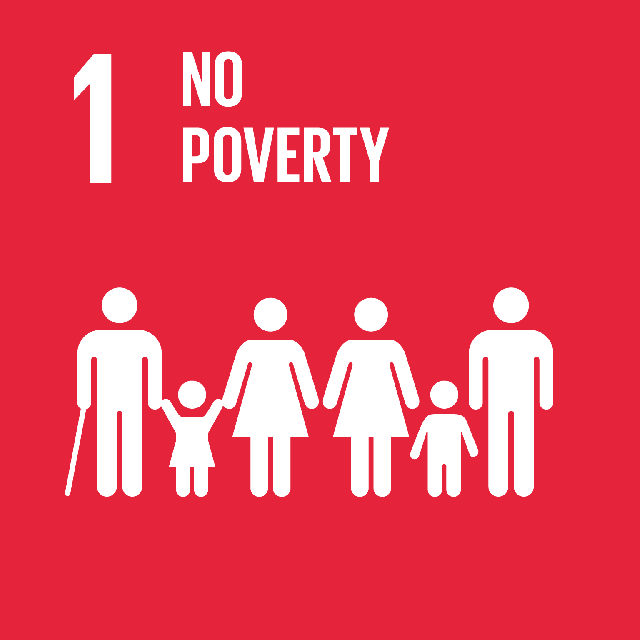 The SDGs icons of NO POVERTY