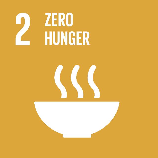 The SDGs icons of ZERO HUNGER
