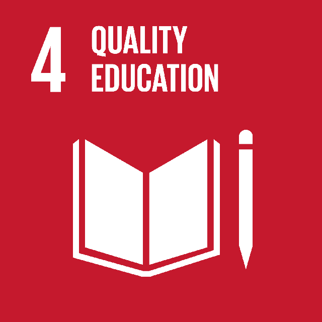 The SDGs icons of QUALITY EDUCATION