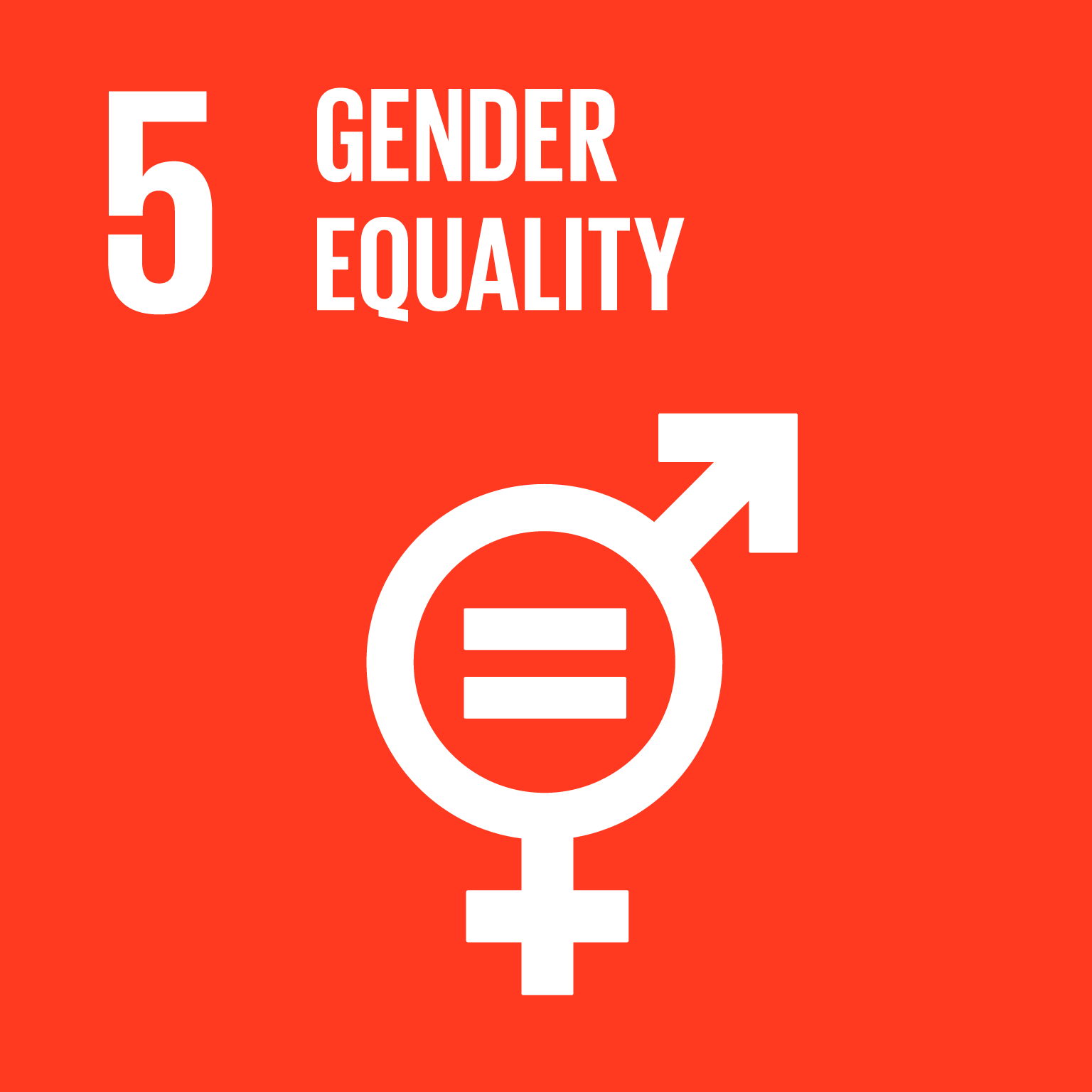 The SDGs icons of GENDER EQYALITY