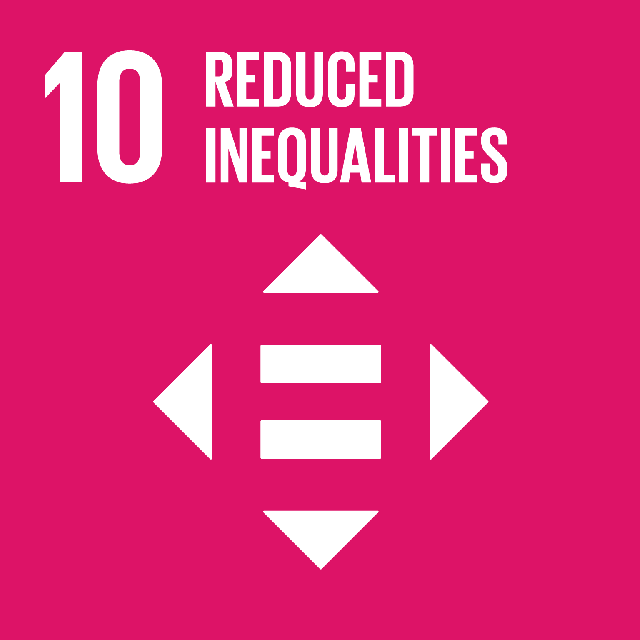 The SDGs icons of REDUCED INEQUALITIES