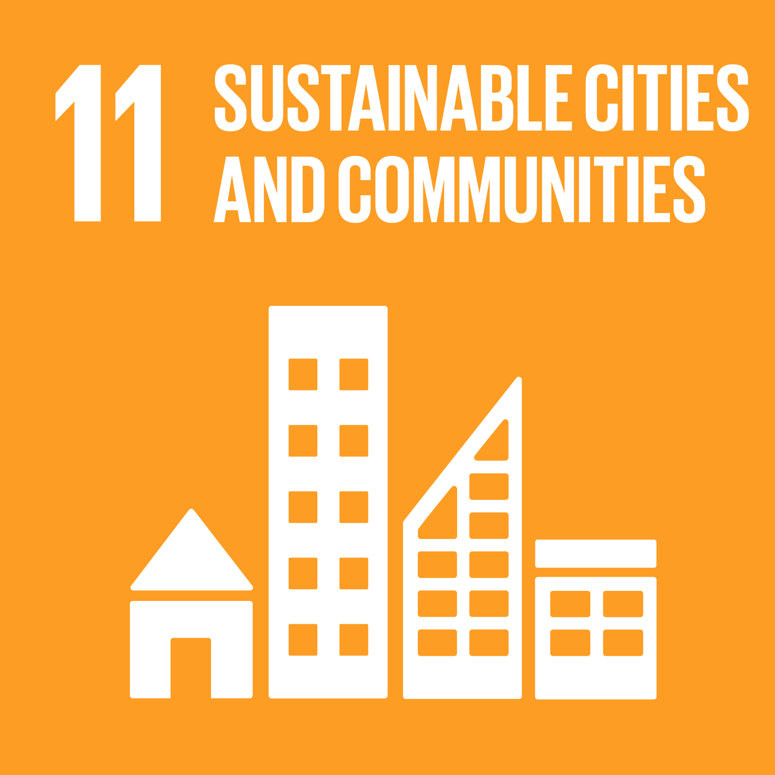 sdg icon #11 SUSTAINABLE CITIES AND COMMUNITIES