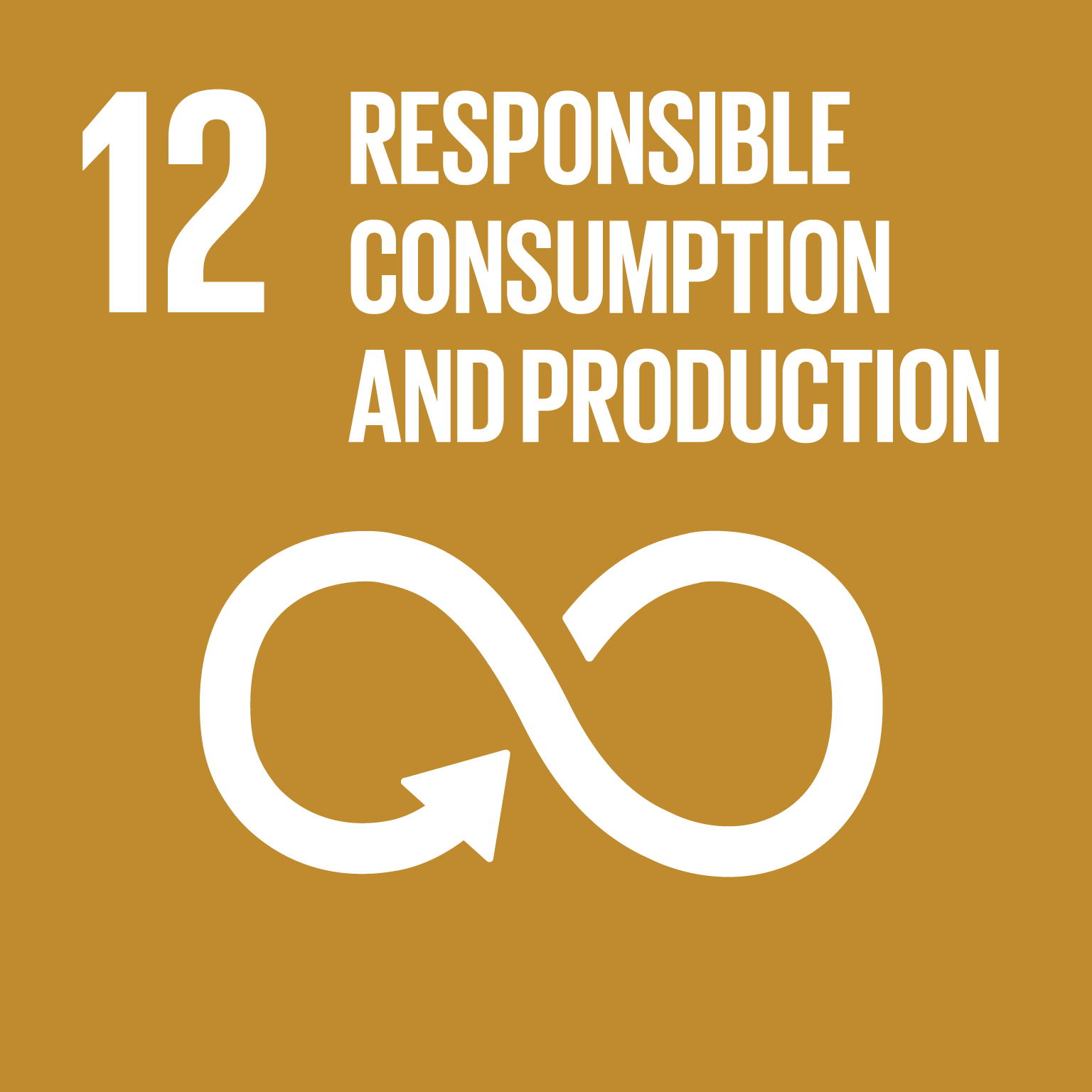 The SDGs icons of RESPONSIBLE CONSUMPTION AND PRODUCTION