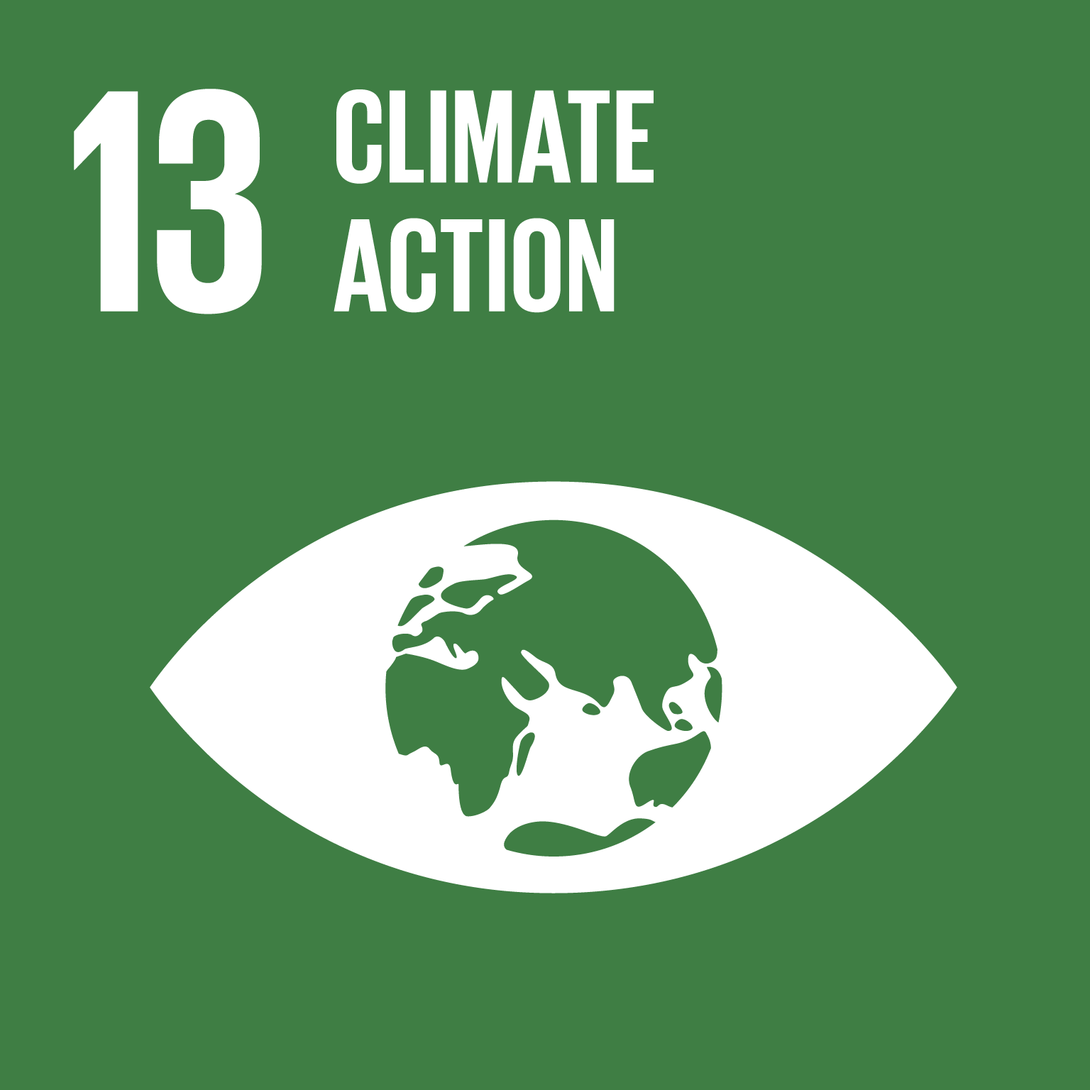 The SDGs icons of CLIMATE ACTION