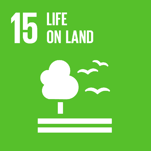 The SDGs icons of LIFE ON LAND