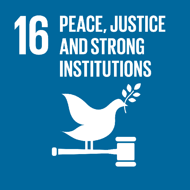 "Icons for goal 16""Peace and justice strong institutions"""