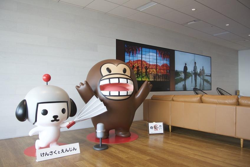 """Yahoo! JAPAN Official character """"Kensaku to Enjin"""" at Grand Front Osaka office"""