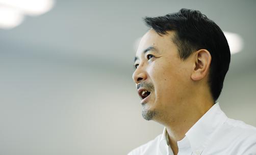 代表取締役社長、川邊 健太郎の写真