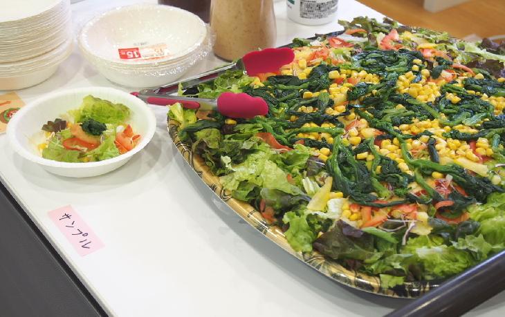 野菜を食べるイベントの料理の写真