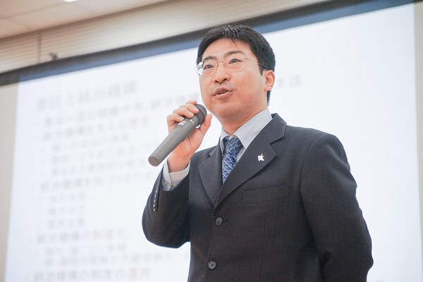 東京大学大学院の宍戸常寿教授 登壇の模様