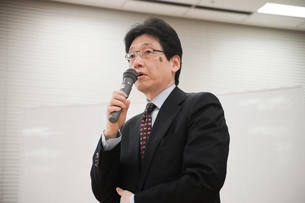 日本経済新聞社の清水真人編集委員 登壇の模様