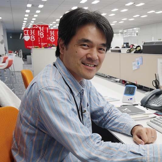 研究開発エンジニア 浅見 宗広の写真 Portrait of Munehiro Azami R&D Engineer