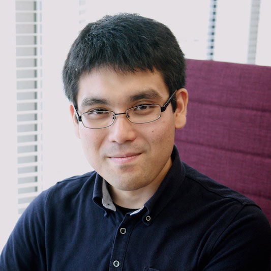 リードサイエンティスト 田頭 幸浩の写真 Portrait of Yukihiro Tagami Lead Scientist