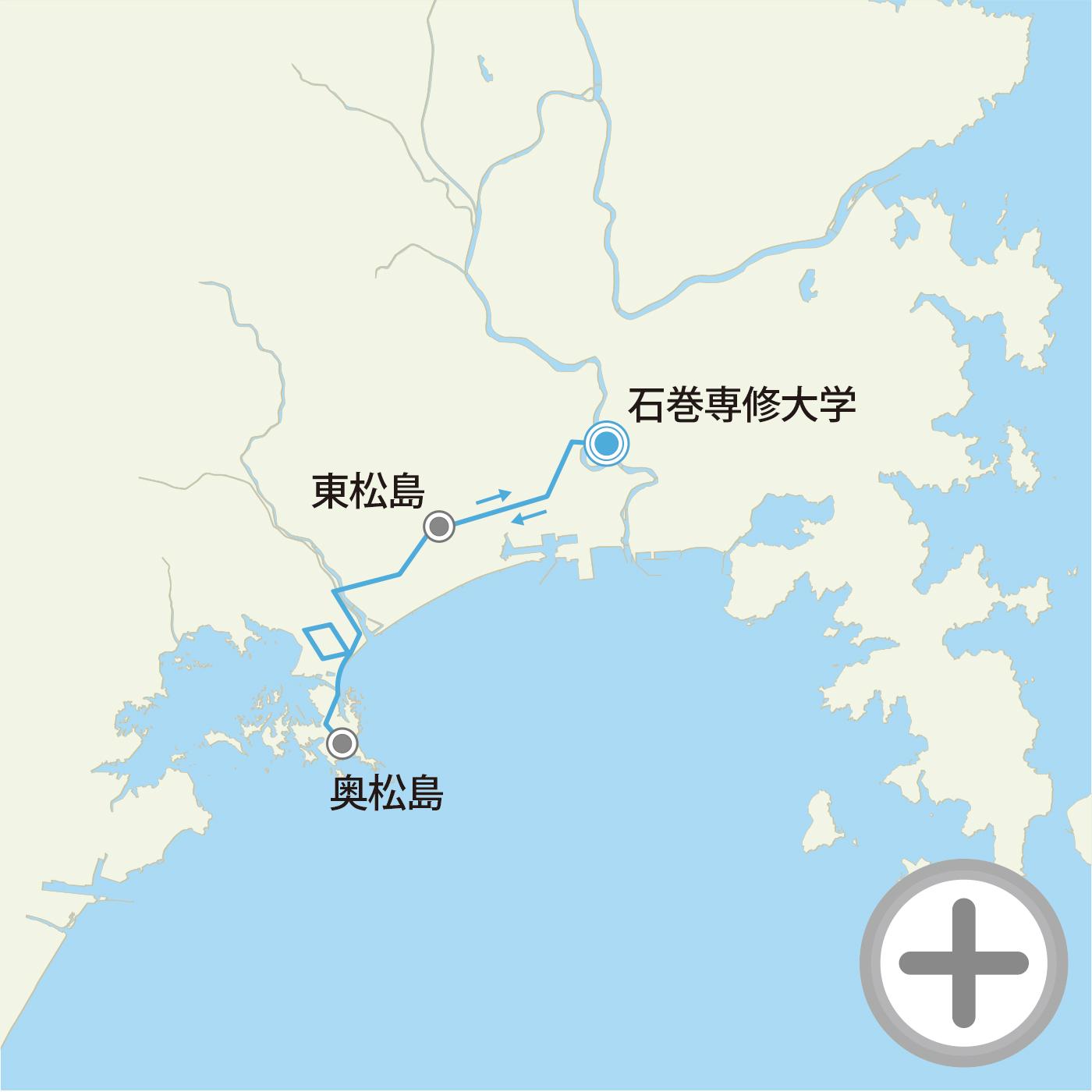 奥松島グループライドコースマップの画像