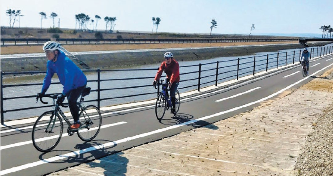 写真:仙台亘理自転車道の風景