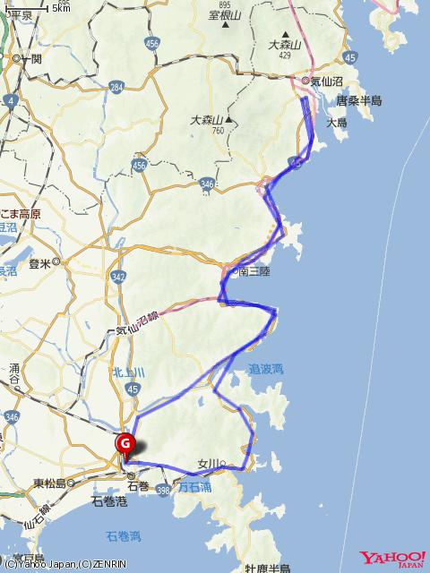 気仙沼フォンドコースマップの画像