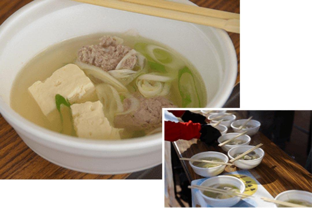 写真:女川汁(サンマのすり身汁)