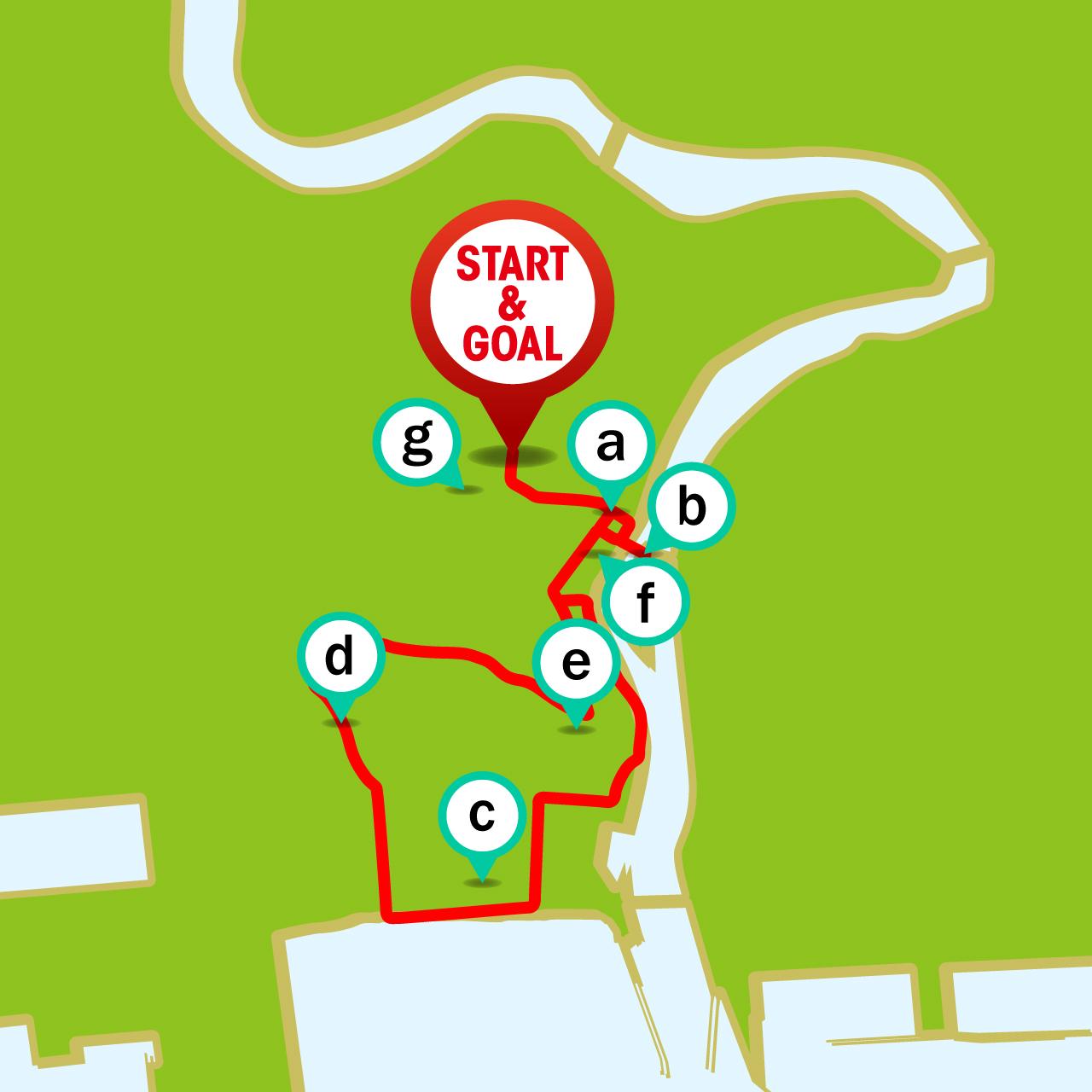 ツール・ド・東北 石巻周遊ライドコースのマップ