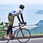 ツール・ド・東北 牡鹿半島チャレンジグループライドコース 距離:約100km 獲得標高:約1,400m
