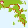 牡鹿半島チャレンジコースのマップ