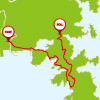 牡鹿・女川グルメコースのマップ