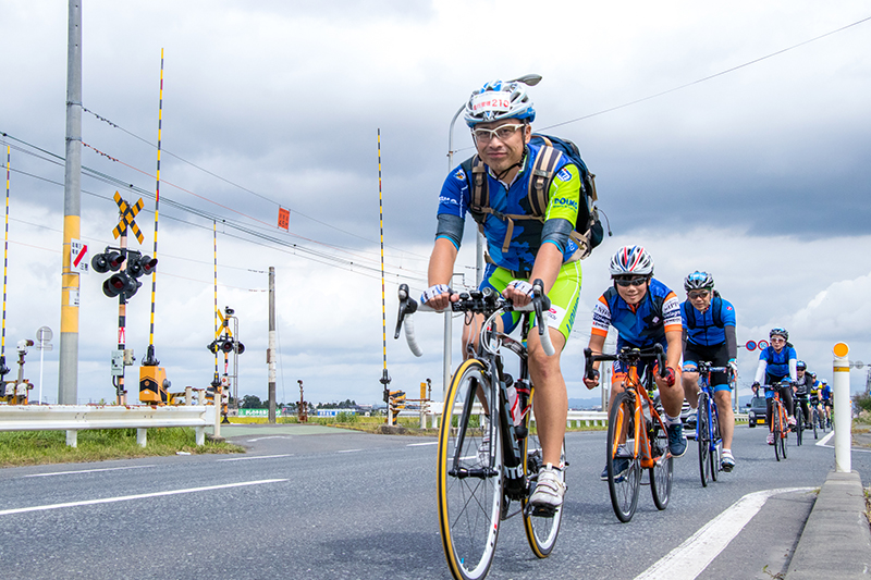 2017年に新設された東松島の奥松島エリアまで走るグループライド
