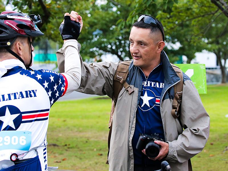毎年駆けつけてくれる米軍の自転車チーム