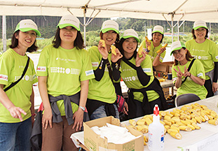 ツール・ド・東北2013:ボランティアクルーの写真