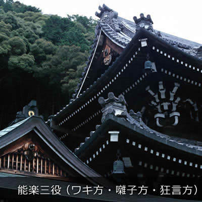 能楽三役(ワキ方・囃子方・狂言方)