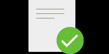 1次審査の申請内容を確認の図