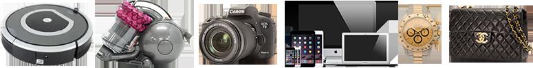 取扱商品 カメラ、パソコン、スマホ、家電、ブランドファッション、時計など