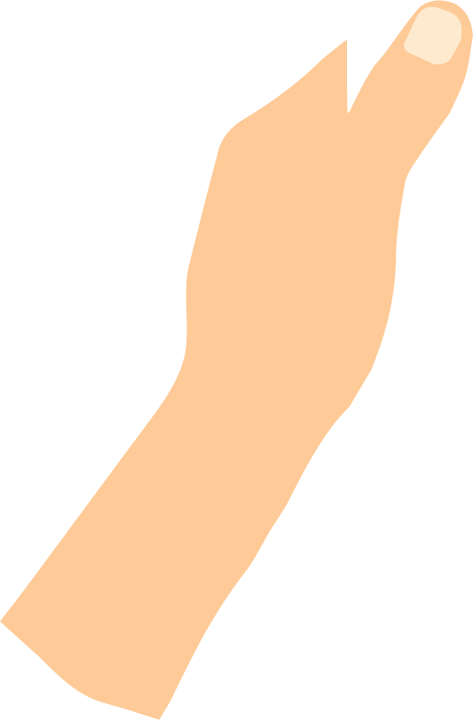 左手イラスト