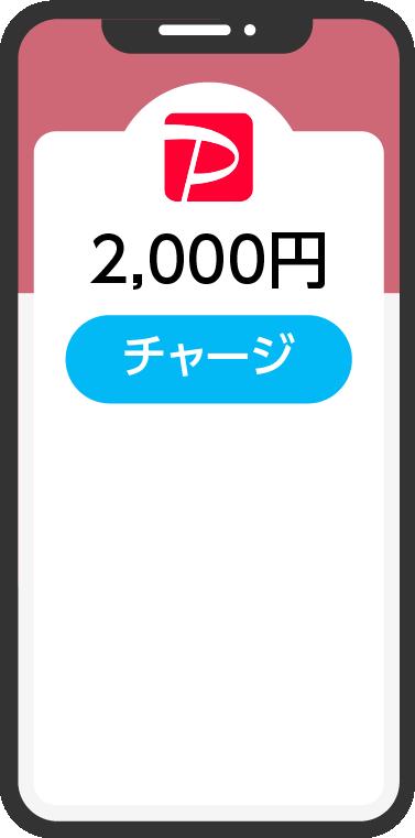 PayPayアプリを立ち上げた携帯のイラスト