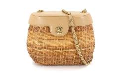 CHANEL シャネル Straw Basket カゴバッグ