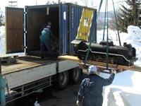 積雪1m超、雪の中での差し押さえと引き揚げ作業