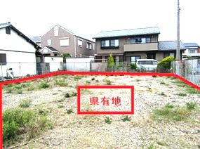 栃木県栃木市の元職員公舎敷地