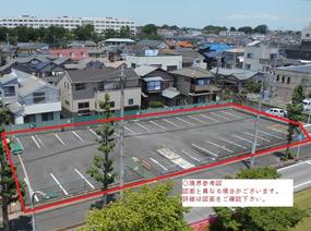 千葉県松戸市の旧市立病院駐車場