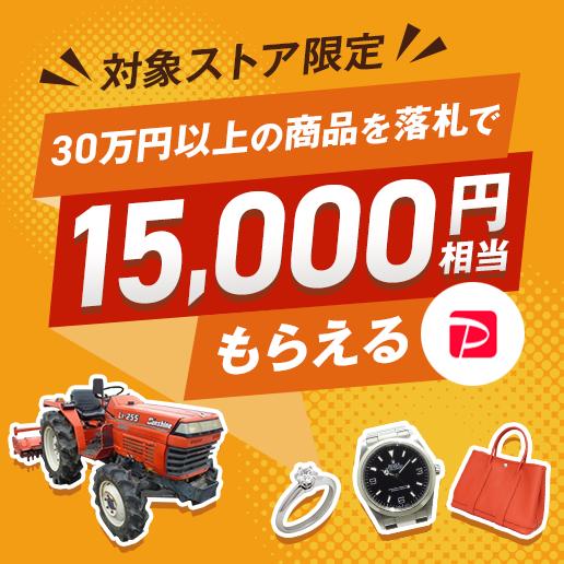 30万円以上の商品を落札で15000円相当もらえるキャンペーン