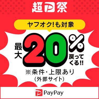 超PayPay祭最大1000円相当20%戻ってくる!