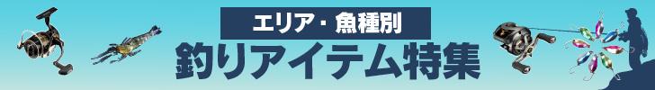 エリア・魚種別 釣りアイテム特集