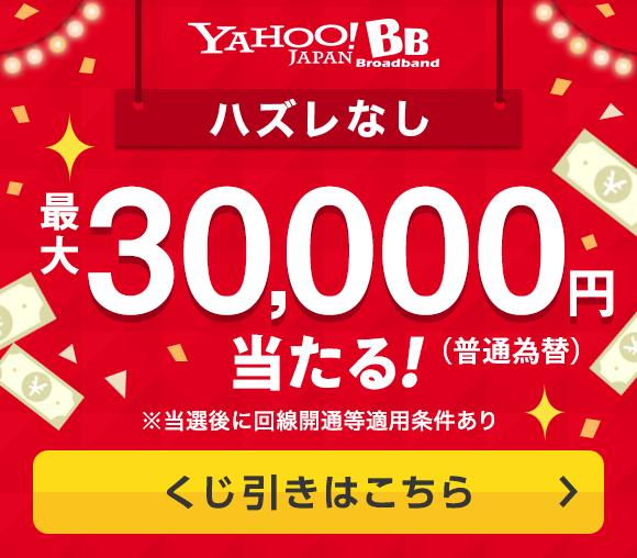 1等30,000円! 快適インターネット回線がお得になる...