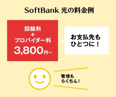 SoftBank 光の料金例
