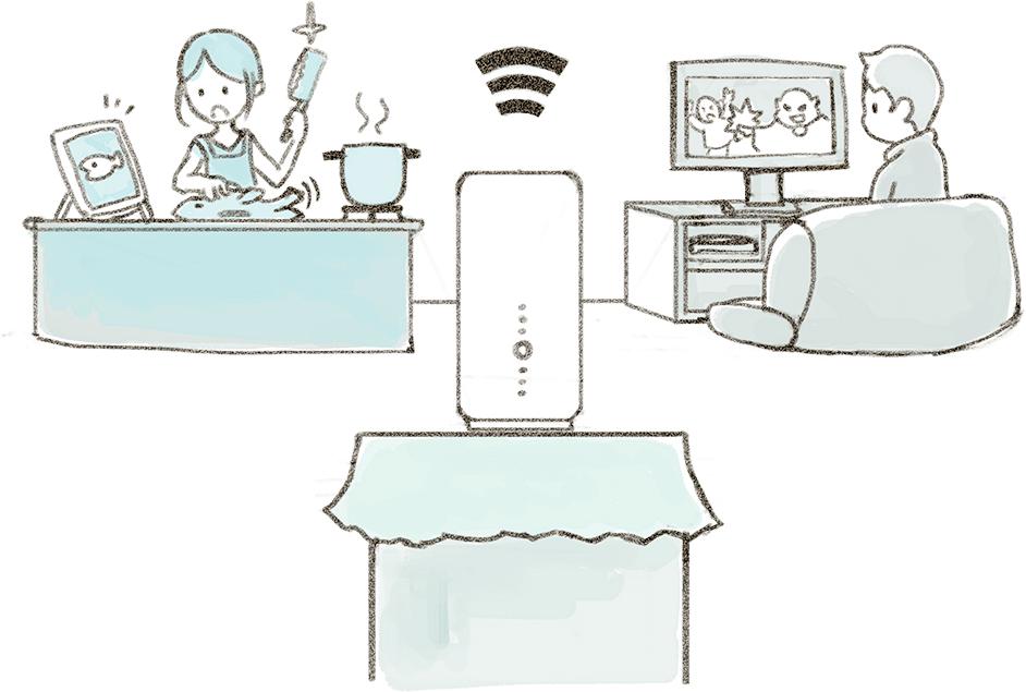 SoftBank Airを利用しているイメージ