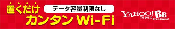 容量制限なし 置くだけ簡単Wi-Fi