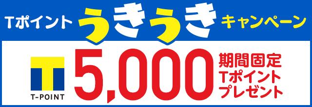 ポイントうきうきキャンペーン5,000期間固定ポイントプレゼント